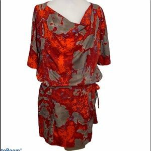 W118 by Walter Baker Wrap Dress Vibrant Ruched Lg